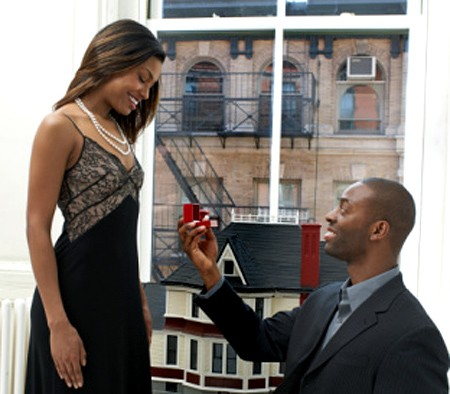 Image result for images of a black guy proposing to his girlfriend
